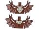 Part No: 973pb1644c01  Name: Torso Batman Bat with Tan Fur Pattern / Reddish Brown Arms with Wings / Reddish Brown Hands