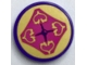 Part No: 14769pb266  Name: Tile, Round 2 x 2 with Bottom Stud Holder with Hearts Seat Cushion Pattern (Sticker) - Set 40307