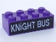 Part No: 3001pb018  Name: Brick 2 x 4 with 'KNIGHT BUS' Pattern