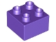 Part No: 3437  Name: Duplo, Brick 2 x 2