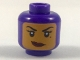 Part No: 3626cpb1982  Name: Minifigure, Head Female Balaclava with Medium Dark Flesh Face, Beauty Mark, Crooked Smile Pattern - Hollow Stud
