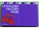 Part No: 4066pb383  Name: Duplo, Brick 1 x 2 x 2 with LEGOLAND FACTORY TOUR Pattern