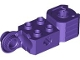 Part No: 47431  Name: Technic, Brick Modified 2 x 2 with Axle Hole, Rotation Joint Ball Half (Vertical Side), Vertical Axle Hole End (Fist)