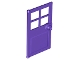 Part No: 60623  Name: Door 1 x 4 x 6 with 4 Panes and Stud Handle