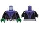 Part No: 973pb2039c01  Name: Torso Batman Muscles Outline, Open Black Shirt and Silver Belt Pattern / Black Arms / Green Hands