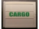 Part No: 2874pb02R  Name: Door Sliding - Type 2 with Green 'CARGO' Pattern Right Side (Sticker) - Set 4512