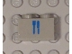 Part No: 3004pb013  Name: Brick 1 x 2 with Train Dining Car Blue Knife & Fork Pattern (Sticker) - Metroliner