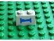 Part No: 3004pb014  Name: Brick 1 x 2 with Train Sleeping Car Blue Bed Pattern (Sticker) - Metroliner