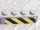 Part No: 3010pb048  Name: Brick 1 x 4 with Black and Yellow Danger Stripes Pattern (Sticker) - Set 6575