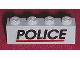 Part No: 3010pb081  Name: Brick 1 x 4 with Black 'POLICE' Red Line Pattern (Sticker) - Set 6598