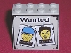 Part No: 30144pb001  Name: Brick 2 x 4 x 3 with Wanted Posters Pattern