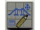 Part No: 3068bpx28  Name: Tile 2 x 2 with Blueprints and Pencil Pattern