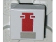 Part No: 3070bps1  Name: Tile 1 x 1 with Groove with Red and Gray Mini Snowspeeder Pattern