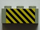 Part No: 3622pb063  Name: Brick 1 x 3 with Black and Yellow Danger Stripes Pattern (Sticker) - Set 7823
