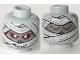 Part No: 3626bpx112  Name: Minifigure, Head Dual Sided Alien with Mummy Face Awake / Asleep Pattern - Blocked Open Stud