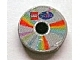 Part No: 4150pb060  Name: Tile, Round 2 x 2 with CD Pastel Sectors and LEGO Scala Logo Pattern (Sticker)