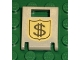 Part No: 4346pb03  Name: Container, Box 2 x 2 x 2 Door with Slot and Money on Badge Pattern