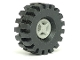 Part No: 4624c03  Name: Wheel 8mm D. x 6mm with Black Tire 21mm D. x 9mm Offset Tread Medium (4624 / 4084)