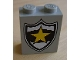 Part No: 4864apx14  Name: Panel 1 x 2 x 2 - Solid Studs with Yellow Star on Black and White Police Badge Pattern