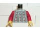 Part No: 973pb0066c01  Name: Torso Castle Fright Knights Fleur de Lis Pattern / Red Arms / Yellow Hands