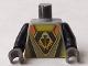 Part No: 973pb0195c01  Name: Torso Space UFO Triangular Insignia Pattern / Black Arms / Dark Gray Hands