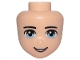 Part No: 14015  Name: Mini Doll, Head Friends Male with Light Blue Eyes and Open Mouth Pattern
