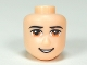 Part No: 16551  Name: Mini Doll, Head Friends Male Large with Brown Eyes, Black Eyebrows and Open Smile Pattern