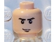 Part No: 3626bpb0035  Name: Minifig, Head Male Stern Eyebrows, White Pupils and Chin Dimple Pattern - Blocked Open Stud