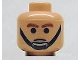 Part No: 3626bpb0074  Name: Minifig, Head Male Brown Eyebrows and Black Chin Strap Pattern - Blocked Open Stud