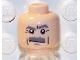 Part No: 3626bpb0203  Name: Minifigure, Head Moustache Dark Bluish Gray Bushy, Dark Bluish Gray Eyebrows, White Pupils Pattern - Blocked Open Stud