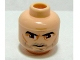 Part No: 3626bpb0317  Name: Minifigure, Head Male Thick Eyebrows, Brown Eyes, Five O'Clock Shadow Stubble Pattern (SW Captain Rex) - Blocked Open Stud
