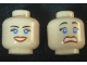 Part No: 3626bpb0386  Name: Minifig, Head Dual Sided Female Blue Eyes, Scared / Smile Open Mouth Pattern - Blocked Open Stud