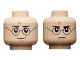 Part No: 3626bpb0475  Name: Minifigure, Head Dual Sided HP Harry with Glasses and Lightning Bolt, Frown / Smile Pattern - Blocked Open Stud