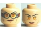 Part No: 3626bpb0489  Name: Minifig, Head Dual Sided HP Madame Hooch Red Lips, Goggles / no Goggles Pattern - Blocked Open Stud