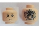 Part No: 3626bpb0624  Name: Minifigure, Head Dual Sided Male Freckles, White Pupils / SW Podracer Goggles Pattern - Blocked Open Stud
