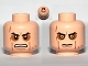 Part No: 3626bpb0671  Name: Minifigure, Head Dual Sided Sunken Eyes, Cheek Lines, Teeth / Closed Mouth Pattern (SW Anakin Sith) - Blocked Open Stud