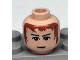 Part No: 3626bpx260  Name: Minifigure, Head Male Brown Hair, Eyebrows, White Pupils Pattern (HP Knight Bus Driver) - Blocked Open Stud