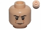 Part No: 3626cpb0487  Name: Minifigure, Head Male HP Snape with Brown Lines and Crease Between Eyebrows Pattern - Hollow Stud