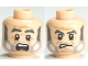 Part No: 3626cpb0566  Name: Minifigure, Head Dual Sided PotC Gibbs Gray Beard and Eyebrows, Crow's Feet, Angry / Scared Pattern - Hollow Stud