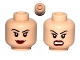 Part No: 3626cpb0635  Name: Minifigure, Head Dual Sided Female Eyelashes and Red Lips, Smile / Angry Pattern - Hollow Stud