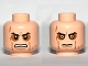 Part No: 3626cpb0671  Name: Minifigure, Head Dual Sided Sunken Eyes, Cheek Lines, Teeth / Closed Mouth Pattern (SW Anakin Sith) - Hollow Stud