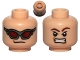 Part No: 3626cpb0751  Name: Minifigure, Head Dual Sided Dark Red Goggles / Brown Eyebrows, Determined Pattern (Hawkeye) - Hollow Stud
