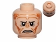 Part No: 3626cpb0805  Name: Minifig, Head Alien with SW Saesee Tiin, Small Eyes with Pupils, Orange Dots on Sides, Angry Pattern - Stud Recessed