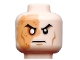Part No: 3626cpb0899  Name: Minifig, Head Male Right Eye Scarred Area and No Pupil, Determined Pattern (Shredder) - Stud Recessed