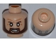 Part No: 3626cpb0901  Name: Minifig, Head Beard Brown Angular, White Eyes, Angry Pattern - Stud Recessed