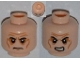 Part No: 3626cpb0904  Name: Minifigure, Head Dual Sided Sunken Eyes, Black Eyebrows, Wrinkles, Frown / Angry Pattern - Hollow Stud