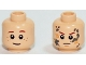 Part No: 3626cpb1198  Name: Minifigure, Head Dual Sided LotR Bain, Brown Eyebrows, Slight Smile and Freckles  / Angry with Mud Splotches Pattern - Hollow Stud