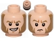 Part No: 3626cpb1287  Name: Minifigure, Head Dual Sided Dark Tan Eyebrows and Large Sideburns, Determined / Sad Pattern (SW Agent Kallus) - Hollow Stud