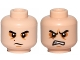 Part No: 3626cpb1486  Name: Minifig, Head Dual Sided SW Black Eyebrows, Sunken Eyes, Red Beauty Mark / Mole, Concerned / Angry Pattern (Kylo Ren) - Stud Recessed