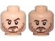 Part No: 3626cpb1670  Name: Minifigure, Head Dual Sided Beard Stubble, Brown Eyebrows, Smile / Neutral Pattern (SW Cassian Andor) - Hollow Stud